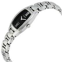 Seiko SUP317 Women's 18mm Black Dial Stainless Steel Solar Powered Watch **NWT** image 2