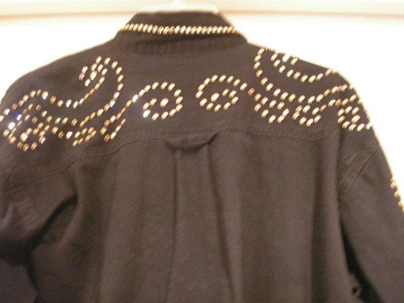 KIPPY'S Swarovski appr 1000 Crystals custom Black shirt sz S special order $650