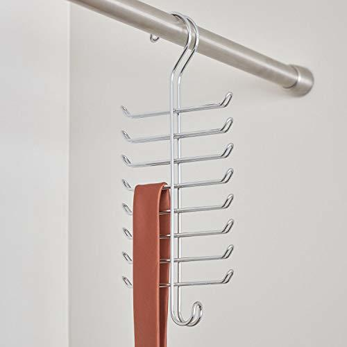 InterDesign Classico Vertical Closet Organizer Rack for Ties, Belts - Chrome 065