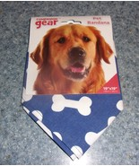 Brand New Companion Gear Blue Dog Bone Design Dog Bandana For Dog Rescue... - $6.39