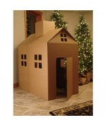 Cardboard Playhouse Corrugated Box Play House - $56.67