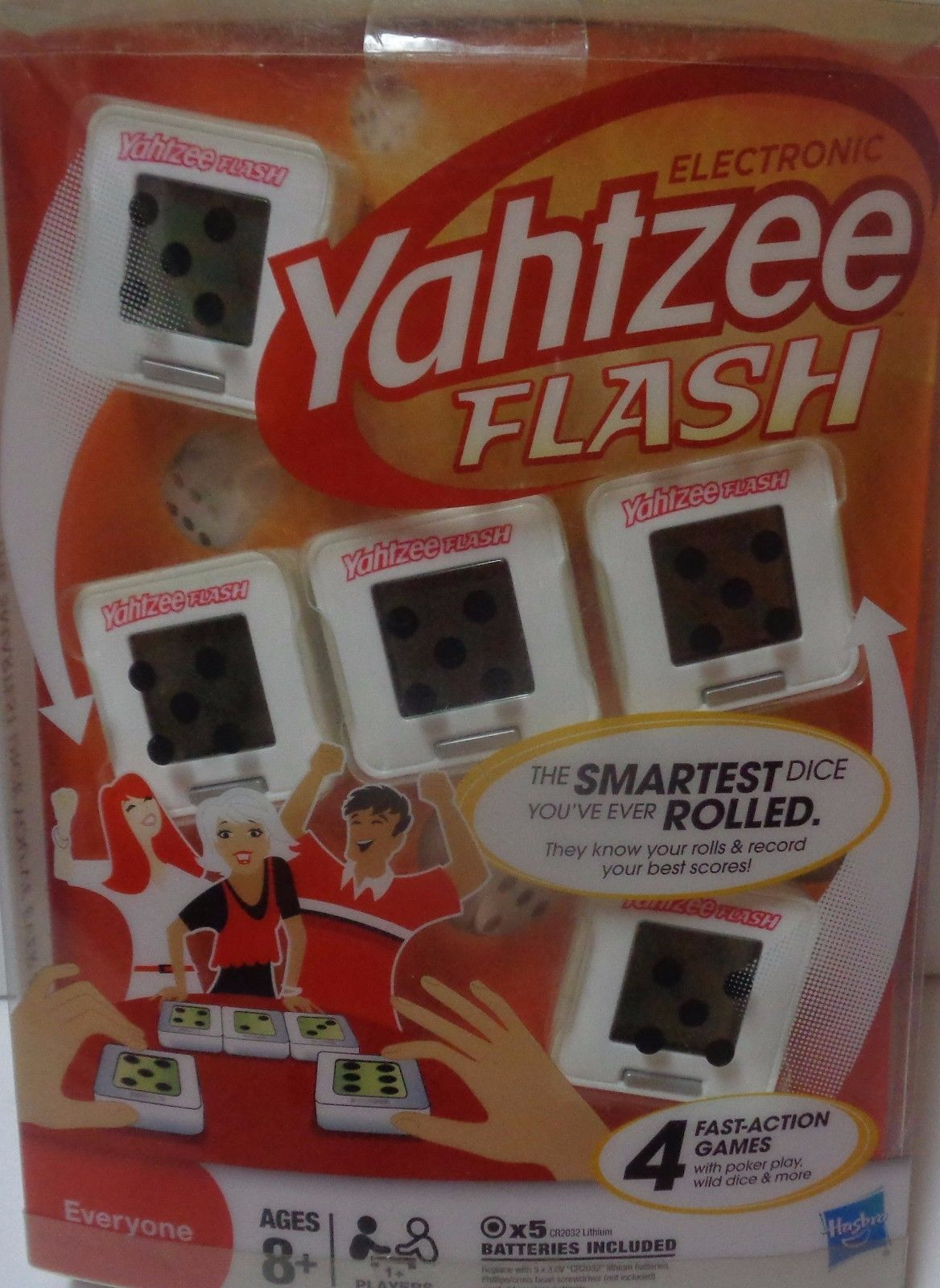 Hasbro Electronic Yahtzee Flash NIB 8+ Free Shipping