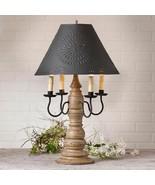 Country new BRADFORD Americana Pearwood table lamp w/ Tin shade - $336.56