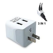 Ceptics CTU-6 USA to Japan, Philippines Travel Adapter Plug with Dual US... - $19.58