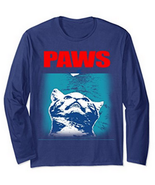 Paws Cat Funny Unisex Long Sleeve TShirt  - $25.00