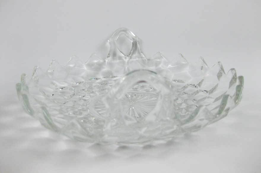 Vintage Fostoria American Clear Double Handled Utility Tray Candy/Nut Dish