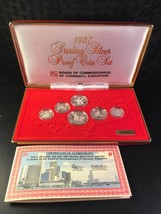 1987 Singapore 6 Coin Silver Proof Set with Original Box Lot#B589 - $84.15