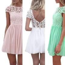 Sexy Chiffon Lace Mini Dress - $27.00