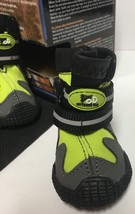 """Pet All Road Boots Sz Small (2"""") Neon Green & Gray 4 In Set  image 7"""