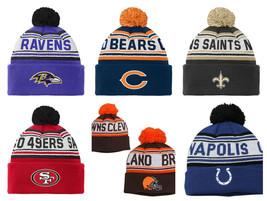 NFL Boy's 8-20 Hat Cuffed Knit Beanie with Pom One Size