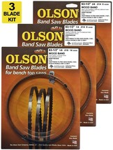 "Olson Band Saw Blades 63-1/2"" inch x 1/8"" & 1/4"" & 3/8"" Craftsman, Hitac... - $34.99"