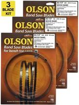 """Olson Band Saw Blades 63-1/2"""" inch x 1/8"""" & 1/4"""" & 3/8"""" Craftsman, Hitac... - $34.99"""