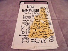 NEW Vintage Look NEW HAMPSHIRE State Kitchen TEA TOWEL White Black Yello... - $19.75
