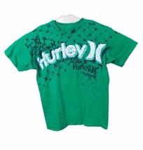 HURLEY GREEN T SHIRT TOP SIZE M Medium COTTON BLEND CREW NECKLINE - $11.95