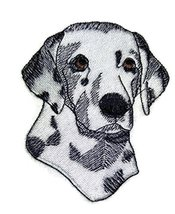 "Amazing [Dalmatian Dog Face ] Embroidery Iron On/Sew patch [4"" x2.5""][Ma... - $6.92"