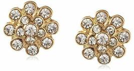 Neuf Cohesive Jewels Plaqué Or Floral Zircone Cristal Boucles D'Oreilles Nwt