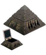 Egyptian Small Bronze Pyramid Trinket Box Egypt Jewelry Container - $18.80