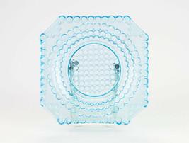 Adams Thousand Eye Blue Square Plate, Antique EAPG c.1885 Sensation Low ... - $29.40