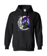Toothless I Love You To The Moon and Back G185 Black Hoodie 8 oz - $32.50+