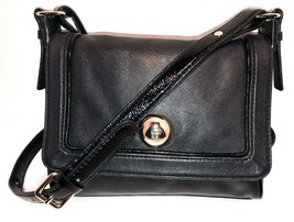 Kate Spade New York Black Leather w/ Patent Leather Accents Small Crossb... - £46.36 GBP