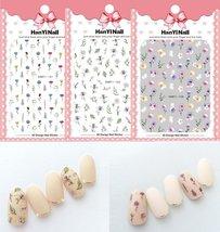 Hot Flower Carved Printing Design Pattern 3D Nail Sticker - $1.99