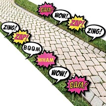 BAM! Girl Superhero - Comic Book Lawn Decorations - Outdoor Baby Shower or - $55.69