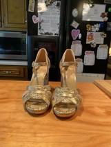 Michael Kors Goldtone Phython Emboss Heels - $50.00