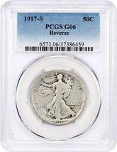 1917-S 50c PCGS Good-06 (Reverse) Scarce Early Walker - Scarce Early Walker - $33.95