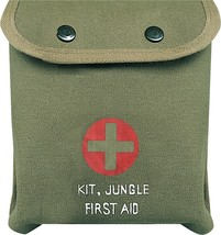 Olive Drab M-1 Jungle Military Red Cross Emergency First Aid Kit with Su... - $13.99