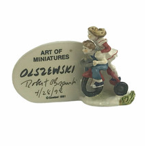 Olszewski Goebel 1992 Summer's Days Plaque Miniature Signed Dated By Artist - $69.98