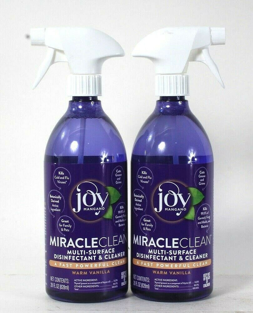 Primary image for 2 Joy Mangano 28 Oz Miracle Clean Warm Vanilla Multi Surface Cleaner
