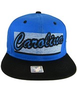 Carolina 2-Tone Adjustable Cotton Snapback Baseball Cap (Blue/Black) - $12.95