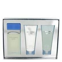 Dolce & Gabbana Light Blue 3.3 Oz EDT + Body Cream + Shower Gel 3 Pcs Gift Set image 1