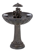 Smart Solar 20326R01 Umbrella Series Solar Fountain, Boy and Girl Readin... - $183.82