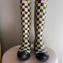 Mackenzie Childs Courtly Check Hunter Rain Boots Size 9 UK 7 retired & RARE  - $371.25