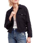 Free People Faye Military Jacket Black Mult Sz - $89.99