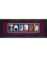 Taylor University Officially Licensed Framed Campus Letter Art - $39.95