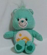 "Care Bears Wish Bear Mint Green 9"" Plush Stuffed Animal 2003 Shooting Star - $11.71"