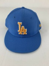 Los Angeles Dodgers Fitted New Era 59FIFTY UCLA Colors Sky Yellow Cap Hat - £27.80 GBP