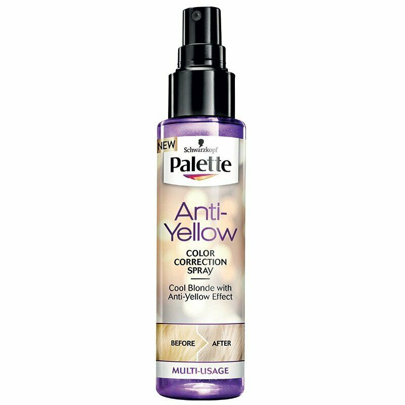 Primary image for SCHWARZKOPF PALETTE - ANTI-YELLOW - COLOR CORRECTION SPRAY - MULTI-USAGE - 100ml
