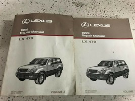 1999 LEXUS LX470 LX 470 Service Repair Shop Workshop Manual Set OEM Worn - $118.75