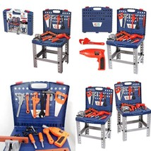 68 Piece Workbench W Realistic Tools Electric Drill For Construction Wor... - €34,50 EUR