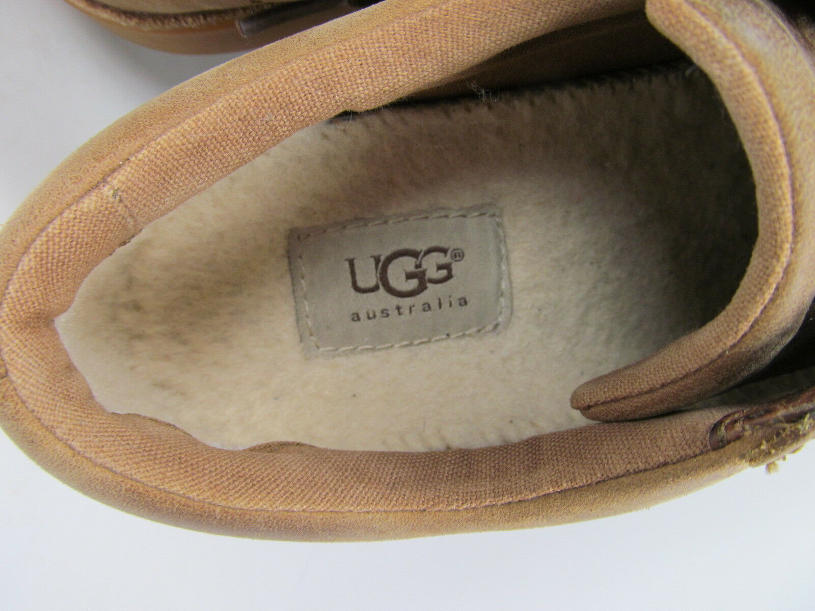 UGG  Australia Tan Distressed Leather Sneakers Mens size 7.5 (EU 40) S/N 1006875 image 7