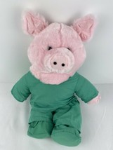 "Build A Bear 17"" Pink Plush Pig In Cute Doctor Scrub Outfit BABW Stuffed... - $19.79"