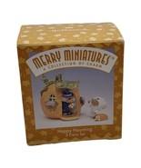Hallmark Merry Miniature Happy Haunting Halloween 1996 Pumpkin House & F... - $12.82