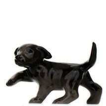 Hagen Renaker Dog Labrador Retriever Puppy Black Ceramic Figurine image 9