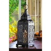 "10 Moroccan Lantern Black Square Candleholder Wedding Centerpieces 13"" Tall - $90.44"