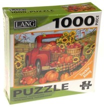 Lang 1000 Piece Jigsaw Puzzle Harvest Truck 29x20 Artwork Susan Winget A... - $12.49