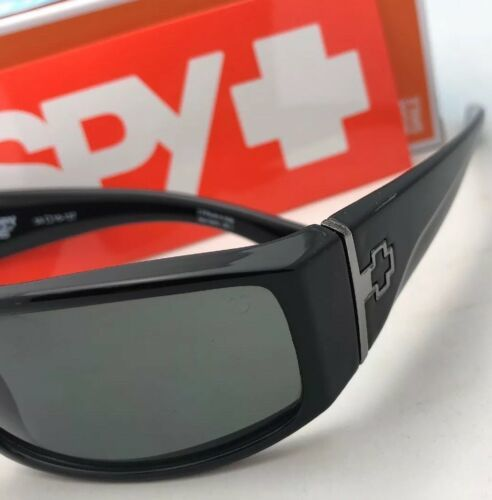 New SPY OPTIC Sunglasses COOPER Shiny Black Frames with Happy Grey Green Lenses
