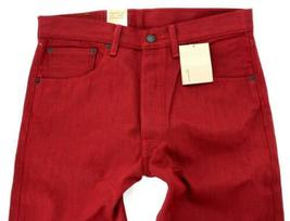 NEW LEVI'S 501 MEN'S ORIGINAL FIT STRAIGHT LEG JEANS BUTTON FLY RED 501-1581 image 4